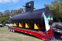 Emplazarán la réplica del submarino ARA San Juan que paso por Olavarría en el Museo de la Base Naval marplatense