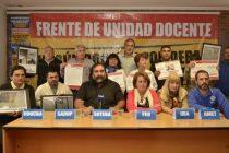 El Frente de Unidad Docente reclamó reunión paritaria al director general de cultura y educación  y al Ministro de Trabajo