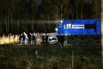 El tren de pasajeros que pasa por Olavarría embistió un Fiat 147 en el paso a nivel de la Ruta 85.