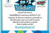 La 99.9 realizará una jornada solidaria el sábado