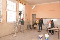 """Continúan los trabajos de infraestructura en la Escuela Nº 17 """"Helena Larroque de Roffo"""""""