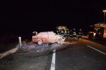 Comisario protagonizó un violento accidente en el ingreso a Alvear
