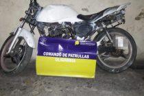 Encontraron una motocicleta abandonada