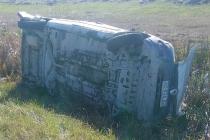 Dos heridos en vuelco de un utilitario Kangoo en Ruta 3