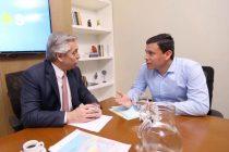 Aguilera se reunió con Alberto Fernández