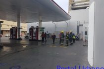 Principio de incendio en la estación de servicio céntrica Axion