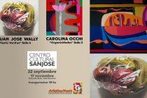 Juan José Wally y Carolina Occhi exponen en el Centro Cultural San José
