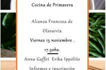 En noviembre realizarán un taller de cocina en la Alianza Francesa