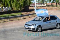 En Olavarría también se realizó la caravana en apoyo  a la marcha del millón