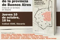 Se presentará el libro «radiografía de la Provincia de Buenos Aires»