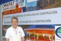 El olavarriense Oscar Cabrera disertó en Chiapas, acerca de patologías y control de calidad en las construcciones.