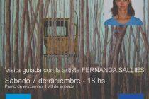El sábado Fernanda Sallies brindará una visita guiada sobre su muestra latente
