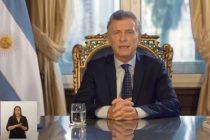 Macri por cadena nacional: «En estos 4 años hubo muchas dificultades que no pudimos resolver»
