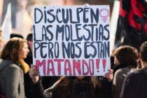 Frente ni una menos: «la violencia de género no es una moda»