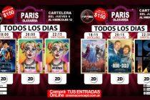 Cartelera de Cine París desde el jueves 6 al Miércoles 12 de Febrero