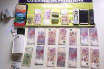 Detuvieron a dos personas tras robar 18.000 pesos en una vivienda