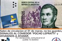 No guardes para el recuerdo tus billetes de 5 pesos, donalos hoy, ahora y estas colaborando con una gran causa