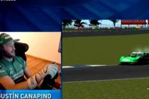 Agustín Canapino ganó la carrera virtual y solidaria del Turismo Carretera