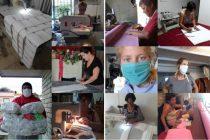 Más de 15 emprendimientos locales produjeron barbijos para los trabajadores de la salud.
