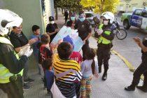 Personal policial recibió el mensaje de agradecimiento del Hogar Peñihuen