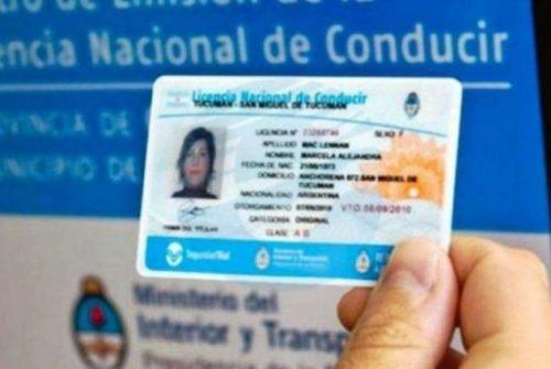 Provincia prorrogó el vencimiento de las licencias de conducir por todo un año