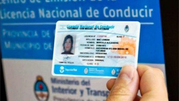 Vencimiento de la licencia de conducir