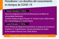 """III Jornada de Periodismo, Investigación y Democracia: """"Periodismo: los desafíos del conocimiento en tiempos de COVID-19"""""""