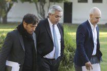 Fernández se reúne con Kicillof y Larreta para planear cómo seguirá la cuarentena