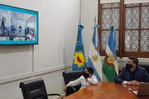 Galli y un alumno participaron virtualmente del acto oficial por el día de la bandera