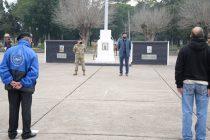 El intendente participó del acto por el Día de la Bandera en el Regimiento