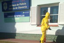 Realizan tareas de desinfección en dependencias policiales