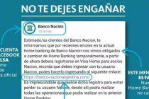 Alerta por falsas redes y webs de los bancos Nación y Provincia