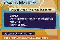Encuentro Informativo sobre el ingreso a Sociales, segundo cuatrimestre