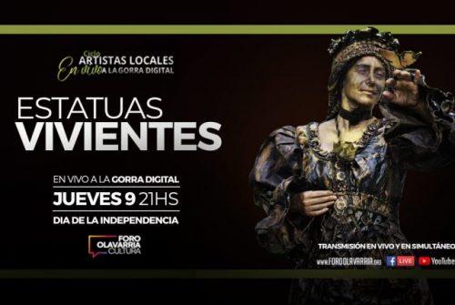 María Inés Banegas y Estatuas Vivientes este jueves en vivo por YouTube y Facebook Live