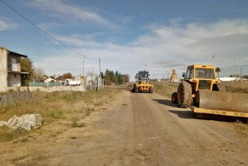 Trabajos de mantenimiento en calles de Villa Aurora