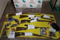 Realizaron tres allanamientos y secuestraron varias armas de fuego
