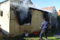 Importantes perdidas en el incendio de una casa del Barrio Luz y Fuerza