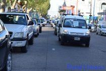 Caravana de Trabajadores de eventos reclamando por la vuelta al trabajo