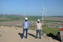 Galli y Bertellys recorrieron el Parque Eólico Los Teros