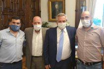 Alberto Fernández se reunió con el diputado Valicenti y dirigentes de AOMA en Casa Rosada