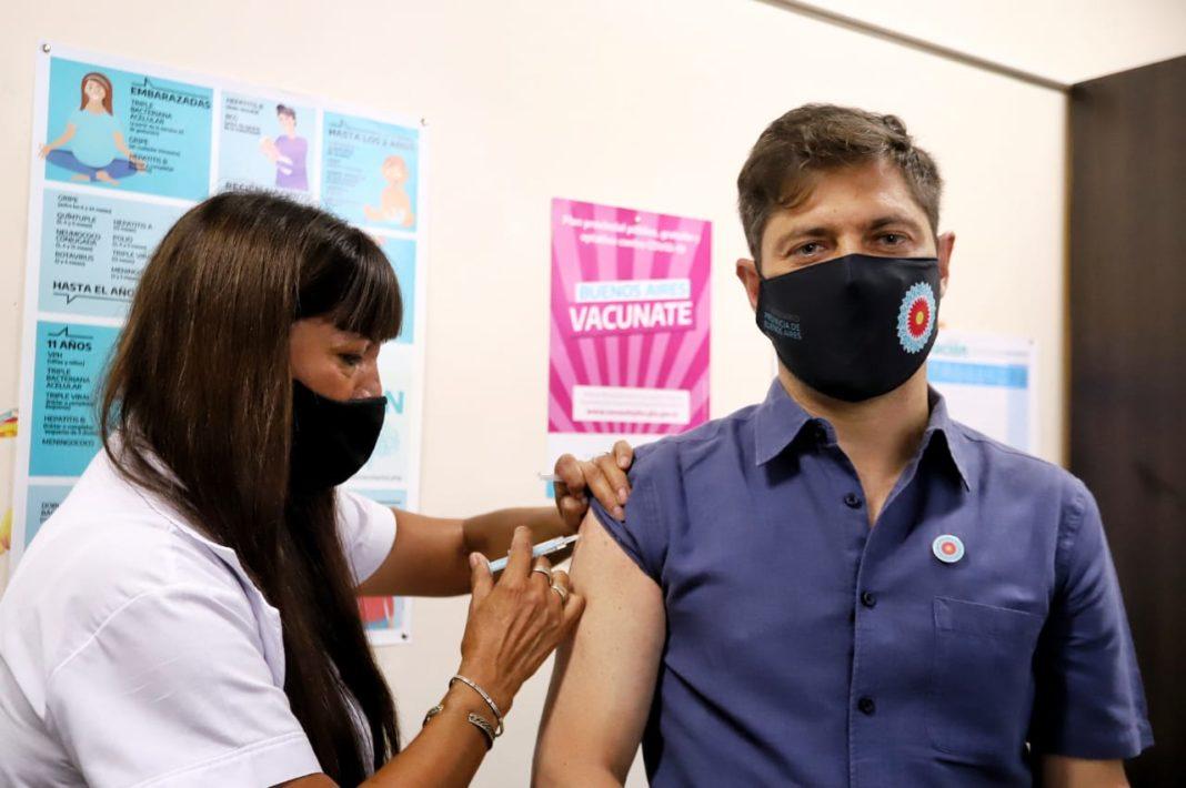 Kicillof se aplicó la vacuna