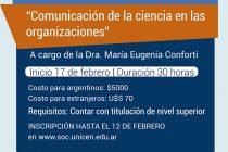 """Taller de actualización """"Comunicación de la ciencia en las organizaciones"""""""