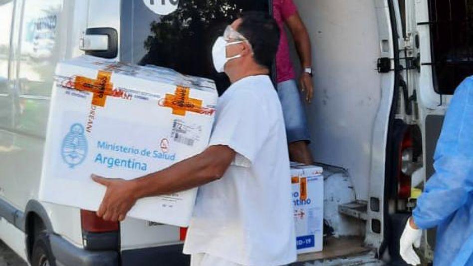 En Azul llegaron más vacunas