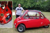 """""""Construí este Heinkel eléctrico para demostrar que podemos transportarnos con menos consumo que una tostadora"""""""