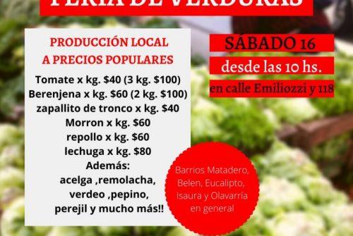 «Feria de Verduras» : El MTE rural llega al barrio