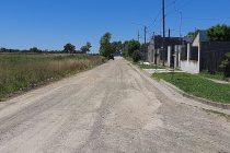 Obras de mantenimiento de calles en Sierra Chica