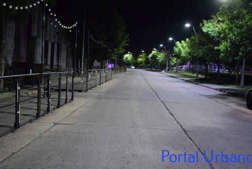 Las imágenes de la restricción nocturna en nuestra ciudad