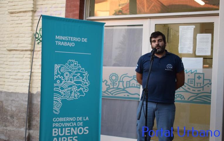Alejandro Santillán en el homenaje