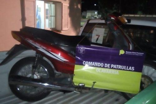 Encontraron una motocicleta abandonada en la vía pública