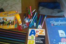 La juventud peronista está realizando una colecta de útiles escolares